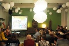 přednáška v restauraci