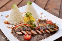 Lada Hitam Bebek with Nasi Putih