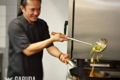 Garuda head chef Faarudin Wau